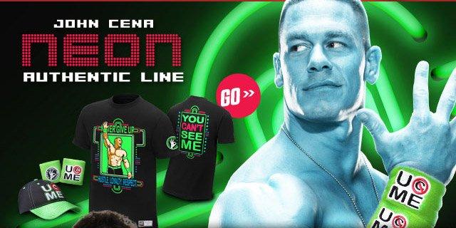 "New: John Cena ""Neon"" Merchandise"