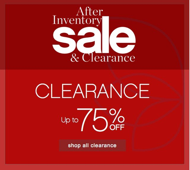 Clearance Up to 75% off. Shop all clearance.