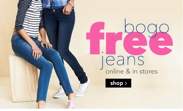 bogo free jeans online & stores
