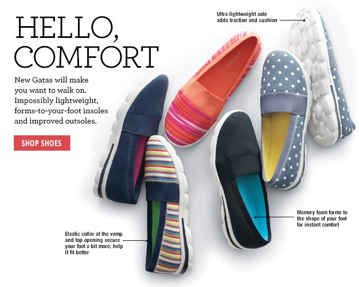 Hello, Comfort - Shop Shoes