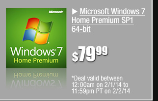 48 hours only! Microsoft Windows 7 Home Premium 64-bit 79.99 usd *limit 3 per customer