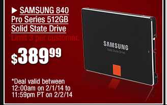48 hours only! SAMSUNG 840 Pro Series 512GB Solid State Drive 389.99 usd