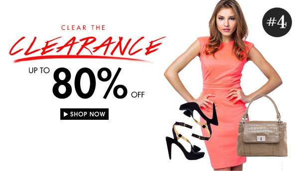 Clear the Clearance sale - Up to 80% off!