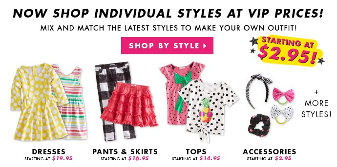 Now Selling Individual Styles!