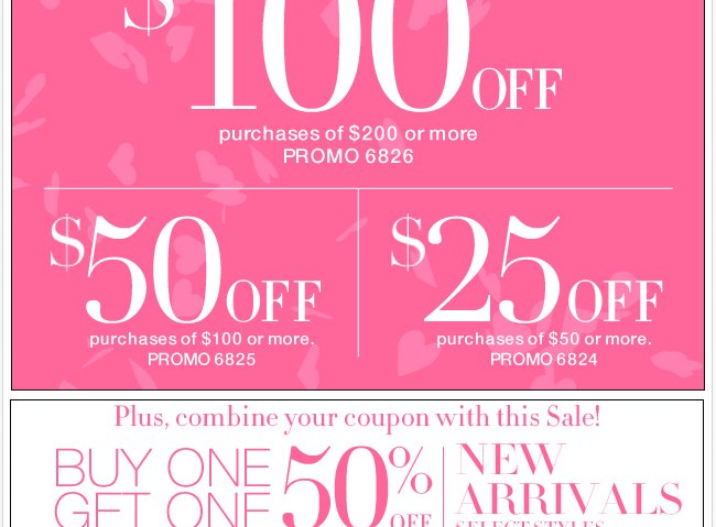 Save up to $100. Plus, BOGO 50% Off New Arrivals!