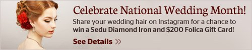 Instagram Wedding Contest, Win a Sedu Diamond Styling Iron!