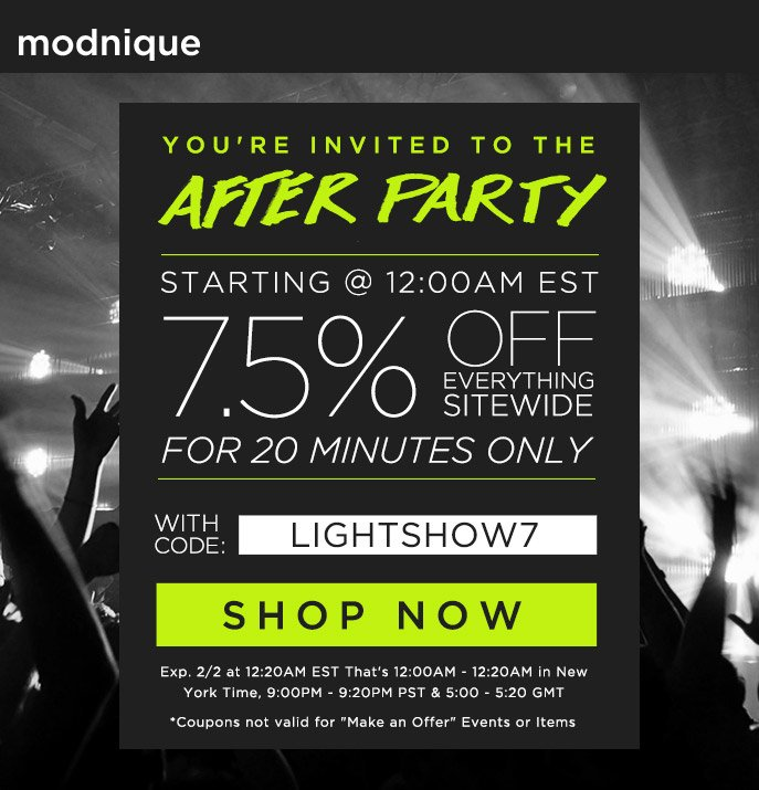 Happy Hour - 15% Off Everything Sitewide
