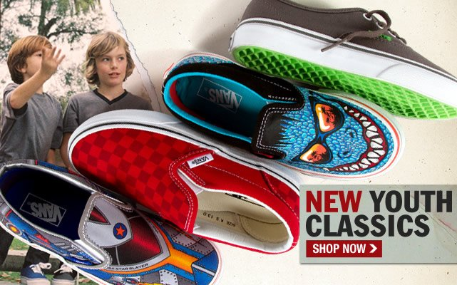 Shop Vans New Youth Classics!