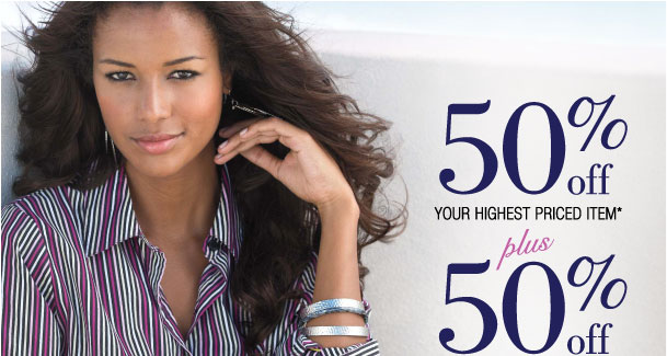 50% off your highest item Plus 50% off your 2nd highest with 3+ items! Use RD5050