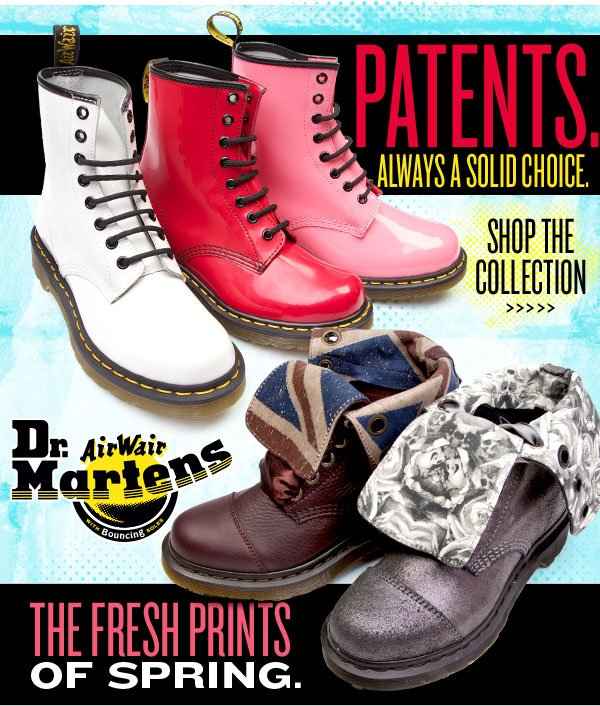 New patents and fresh prints feat. Dr. Martens