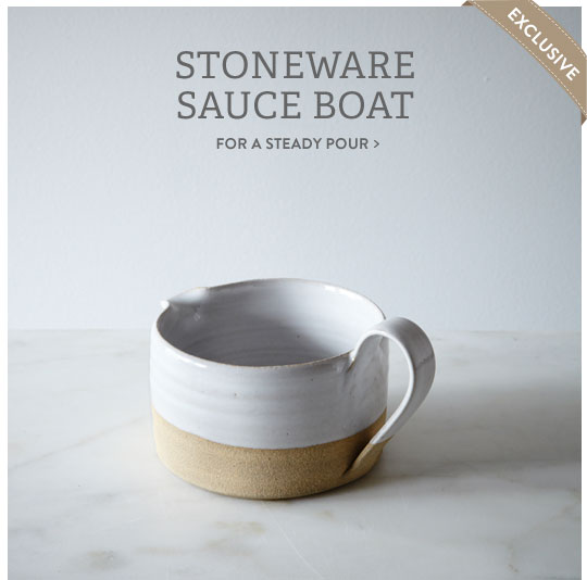 Stoneware Sauce Boat