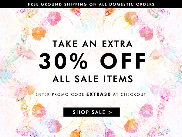 Use code EXTRA30 for an additional 30% off all sale items