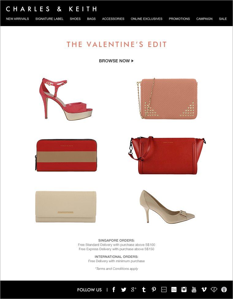 CHARLES & KEITH - Valentine's Edit - Shoes and Bags