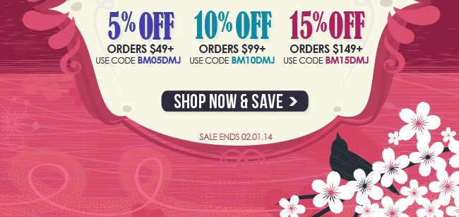 Up to 15% Off Now