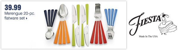 39.99 Merengue 20-pc. flatware set.