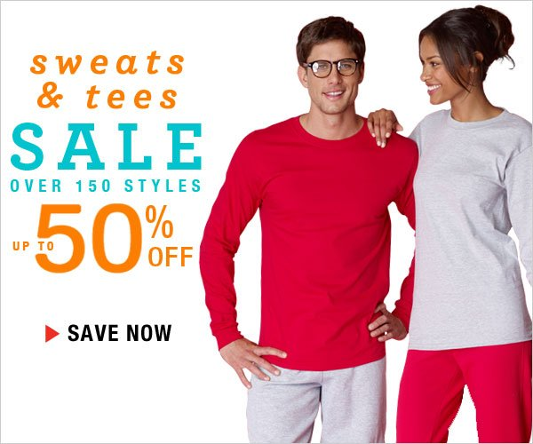 All Sweats & Tees: Up to 50% off