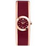 Caravelle 44L148 Mens New York Burgundy Dial Rose Gold Steel Bracelet Watch