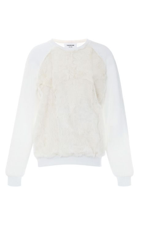 Fur-Front Cotton Sweatshirt