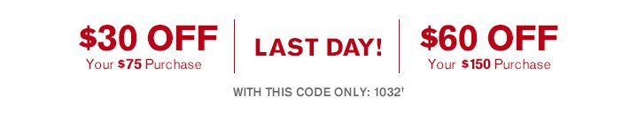 Get $30 Off Your $75 Purchase