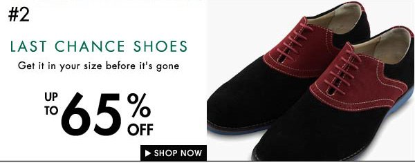 Up to 65% of shoes