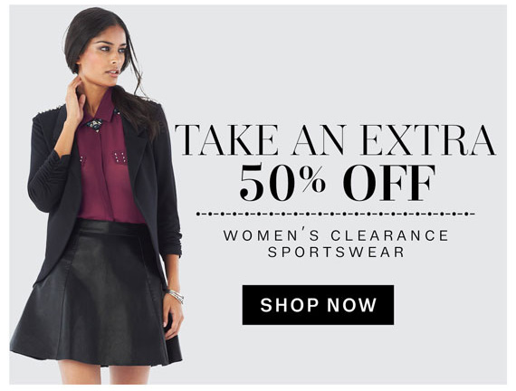 Take an Extra 50% off women's clearance sportswear. Shop Now.