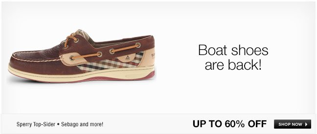 Boat shoes are back!