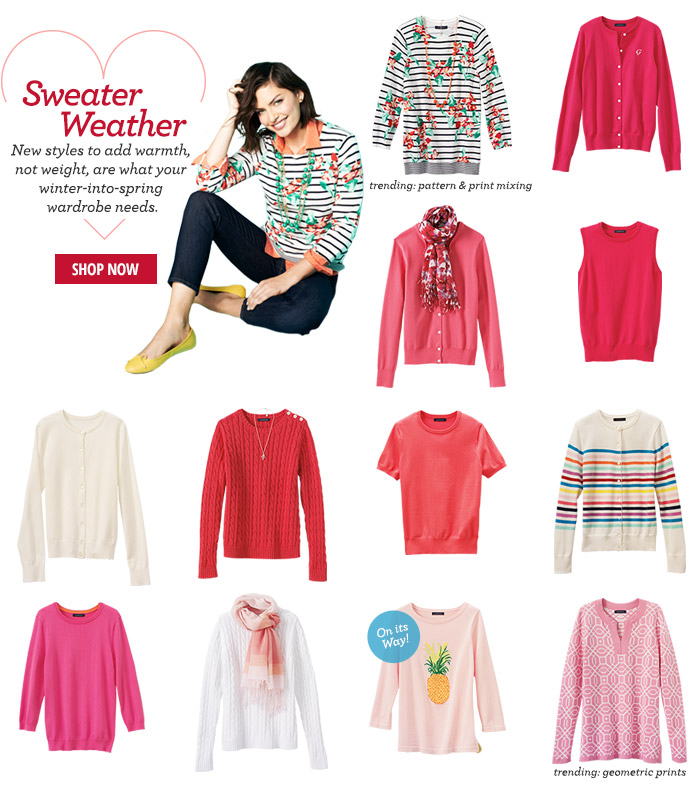 Sweater Weather - New Styles!