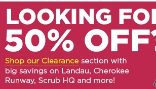 Looking for 50% OFF? - Shop Our Clearance