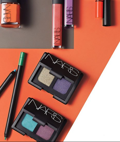 Dive into deeply dramatic eyes, soft lustrous lips and gleaming nails.