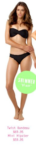 Shimmer Twist bandeau and Mini Hipster with Lettuce Edging