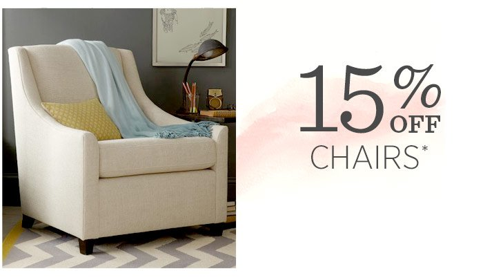 15% off chairs*
