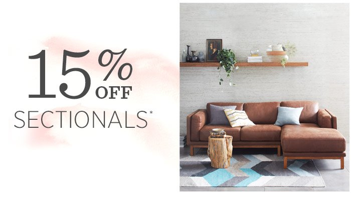 15% Off Sectionals*