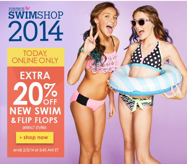Extra 20% off new swim & flip flops