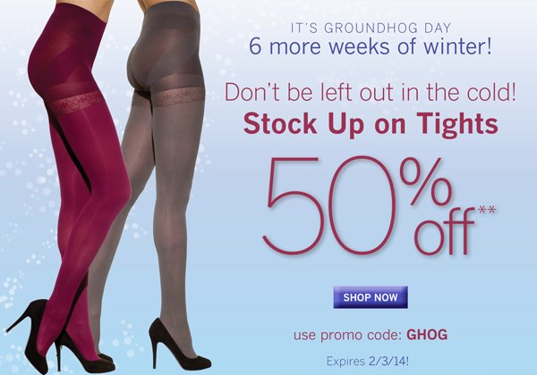 Sculptz Shaping Tights are 50% off with promo code GHOG.