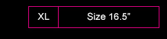 Sizes 16.5'