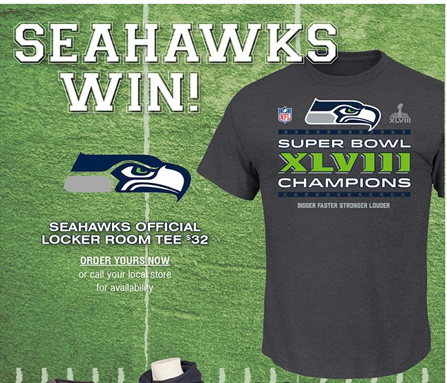 SEAHAWKS OFFICIAL LOCKER ROOM TEE