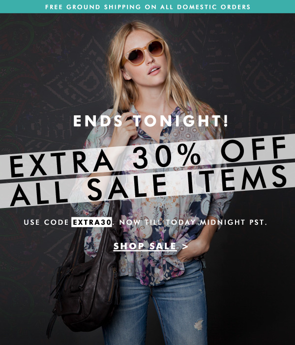 Ends Tonight! Use code EXTRA30 for an additional 30% off all sale items