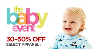 the baby event 30-50% OFF  SELECT APPAREL ›