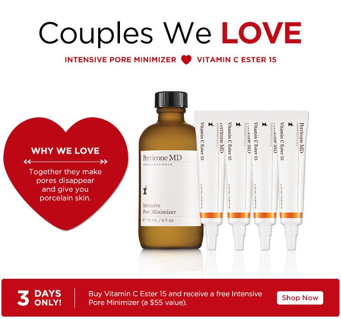 Couples We Love, Intense Pore Minimizer heart Vitamin C Ester 15