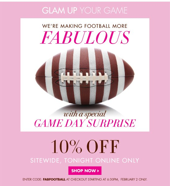 Halftime Promotion: 10% OFF Sitewide