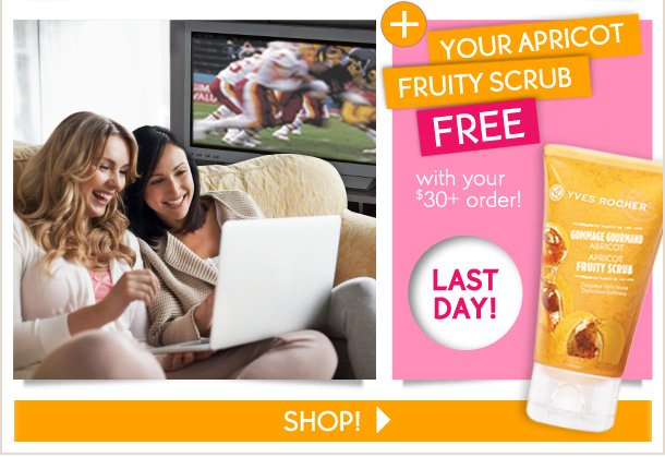 YOUR APRICOT FRUITY SCRUB FREE with your $30+ order!