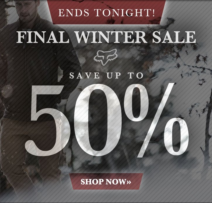 Final Winter Sale