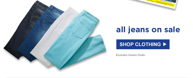 all jeans on sale | SHOP CLOTHING | Excludes Insane Deals.