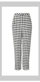 Crinkle Gingham Peg Trousers