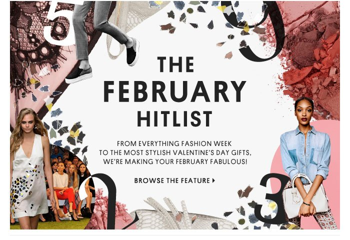 THE FEBRUARY HITLIST - Browse The Feature
