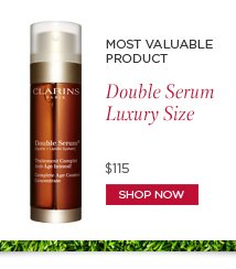Most  Valuable Product: Double Serum Luxury Size SHOP NOW