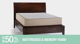Up to 50% off Mattresses & Memory Foam