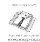 Returns Policy: Four week return period and free collection service