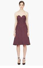 NINA RICCI Purple Satin Compact Bustier Dress for women