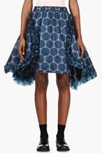 COMME DES GARÇONS Blue Printed Ruffle Skirt for women